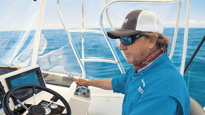 Scotty Thorrington uses Raymarine electronics to hunt, locate and catch fish photo copyright Raymarine taken at  and featuring the Fishing boat class